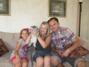 Aneta, Mariusz, Karolinka and Fifi