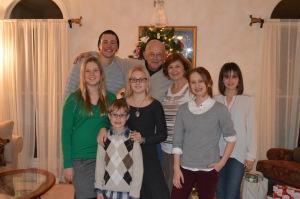 Grandma and Grandpa with the grandchildren.