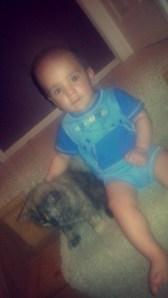 Jayden loves his new best friend.