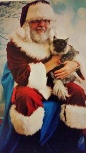 Smokey visited Santa