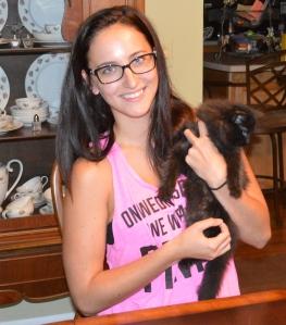 Brooke has named her very handsome black Siberian, Salem.