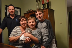 What a wonderful family Staley chose for his forever home--Roberta, Scott, Jake and Sam.