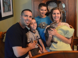 The Morgans never dreamed they could have a kitten because of allergies but one of our Siberians made their dreams come true!