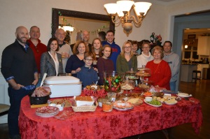 Our family gathering on Christmas Eve.