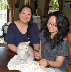 Alysia and Tiffany with Pusheen