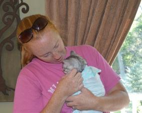 Sara loving baby Rizzo