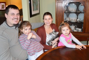 "The beautiful family of Julie and Justin and daughters Mae and Grace were the first to select from these two litters. They selected O'Malley because he was a lover at 5 weeks old. And he still is - this is what Julie had to say ""He is so sweet and gentle. We all just love him. He is going to be such a treasured addition to our family."
